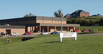 Cannon County, Tennessee - Cannon County High School in Woodbury