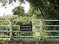 Canoeing prohibited on Muck Fleet - geograph.org.uk - 1496137.jpg