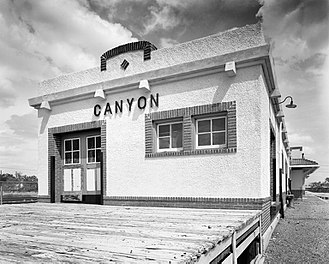 Canyon, Texas - Historic train depot in Canyon