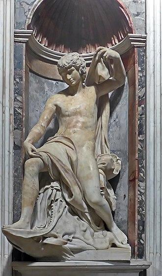 Jonah (Lorenzetto) - Image: Capella Chigi Bernini Jonas