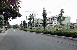 Capitol Commons - Capitol Commons under construction on Meralco Avenue, December 2013