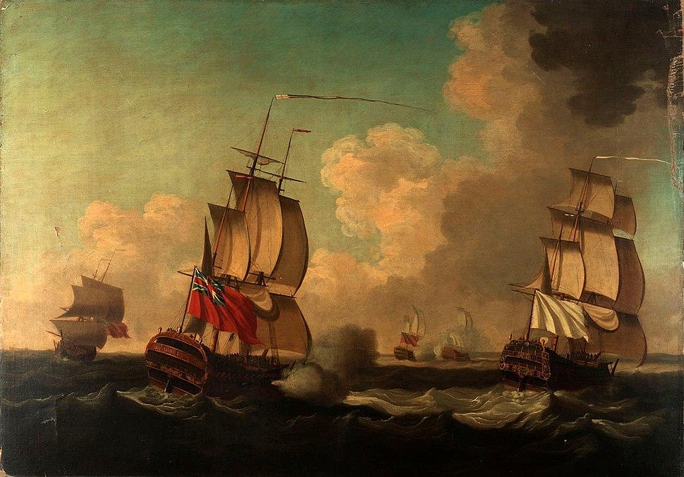 Capture des flutes Alcide et Lys en 1755 pres de Louisbourg