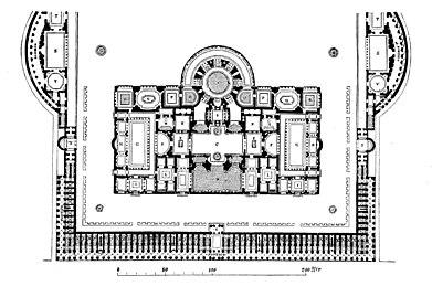 Plano de las Termas Antoninas