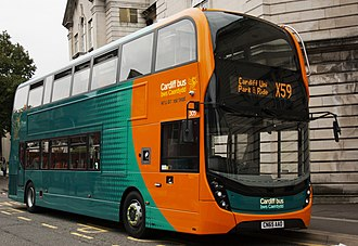 Cardiff Bus - A Cardiff Bus Alexander Dennis Enviro400 in September 2015
