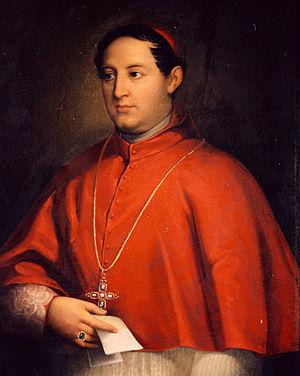 Gaetano Bedini - Picture of Cardinal Bedini site in Viterbo's cathedral.
