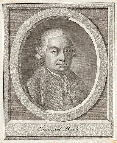 Карл Бах на гравюре Иоганна Липса