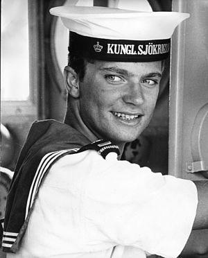 Royal Swedish Naval Academy - King Carl XVI Gustaf as a cadet, circa 1966.