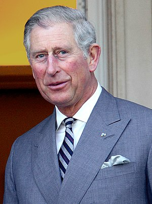 English: Charles, Prince of Wales, in a meetin...
