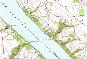 Camp Lourdes - U.S.G.S. map of Tenmile Point