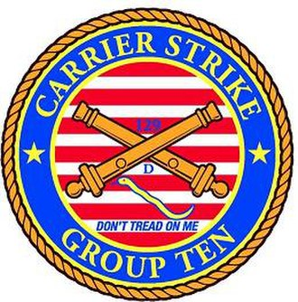 Carrier Strike Group 10 - Image: Carrier Strike Grouup Ten Crossedguns crest small