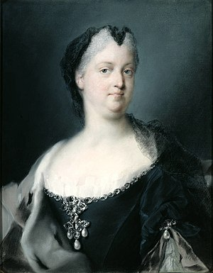 Wilhelmine Amalia of Brunswick-Lüneburg - Empress Dowager Wilhelmine Amalia (by Rosalba Carriera, 1730)
