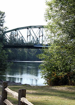 Carver Bridge, Carver Park, and Clackamas River