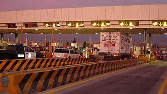 Caminos y Puentes Federales - The San Marcos toll booth on Mexican Federal Highway 150D (Mexico City-Puebla)