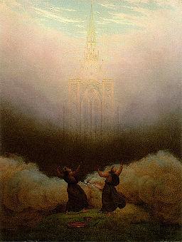 Caspar David Friedrich - Vision der christlichen Kirche (1920)