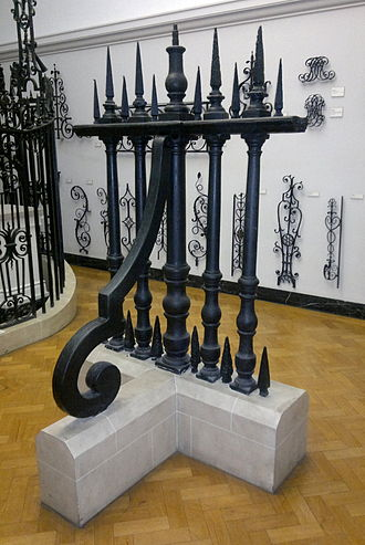 Wealden iron industry - Cast iron railings for St. Paul's Cathedral, now in the Victoria & Albert Museum.