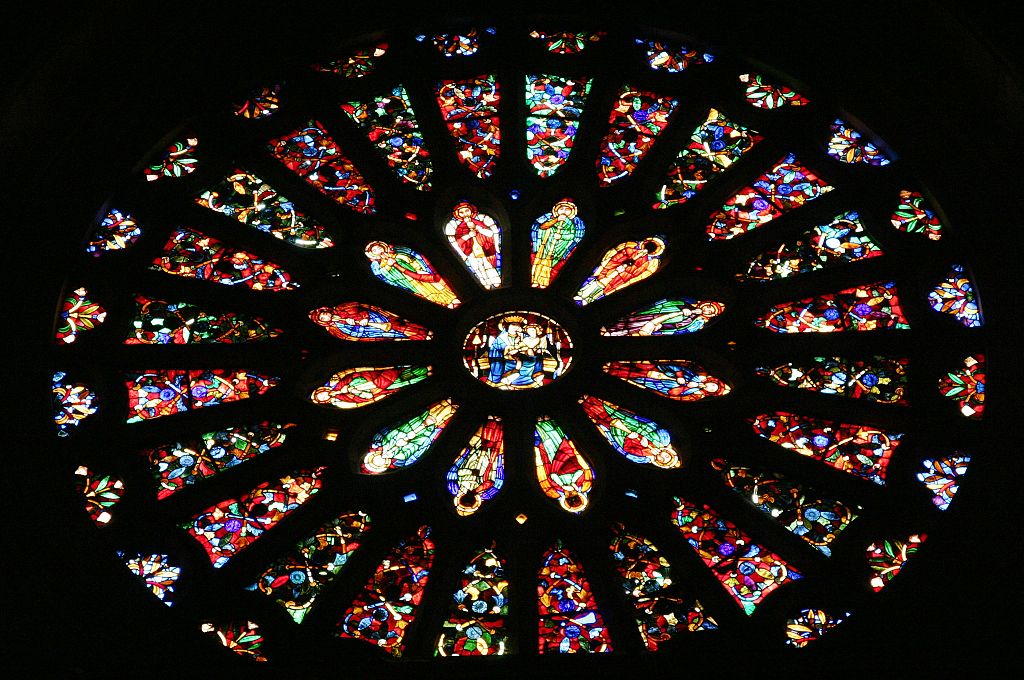 File cathedral of le n rosette interior view jpg for Rose window york minster
