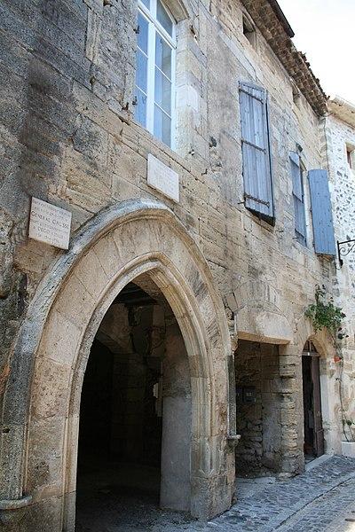 Caux (Hérault) - Maison natale du général Jean Jacques Causse (1751-1796). Siège de la Justice Royale et Bannerette.