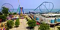 Cedar Point beach view from Sky Ride 2013.jpg