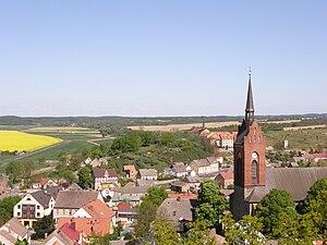 Cedynia - Image: Cedynia, fragment miasta panoramio