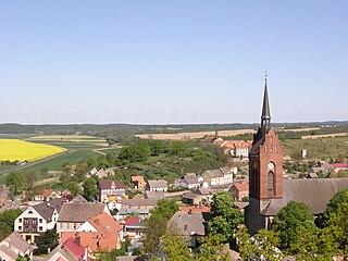 Cedynia Place in West Pomeranian, Poland