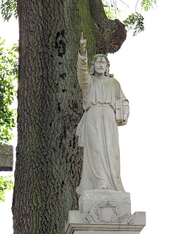Cemetery in Wisznice (closed) – Statue of Christ 01.jpg