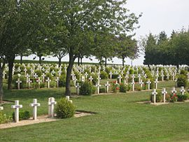 The war cemetery in Rancourt