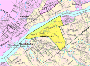Delanco Township, New Jersey - Image: Census Bureau map of Delanco Township, New Jersey