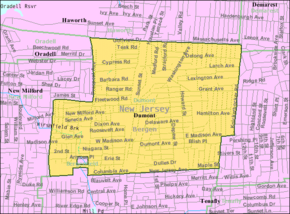 Census Bureau map of Dumont, New Jersey.png