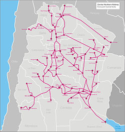 Argentina Rail Network Map - Argentine railway map