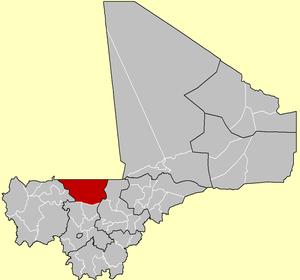 Location of Nara Cercle in Mali
