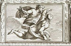 Carlo Cesio - Apollo and Hyacinth, after Annibale Carracci. Published in the Illustrazione de la Galleria Farnese of 1675.