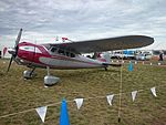 Cessna 190 Businessliner (VH-AAL) on display at the 2015 Australian International Airshow.jpg
