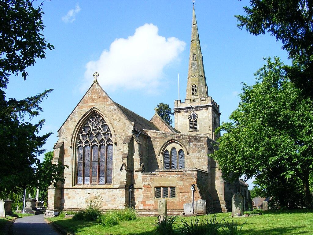 Photo of Chaddesley Corbett Parish Church from lytch gate
