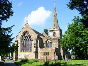Chaddesley Corbett - Parish church from the lych gate