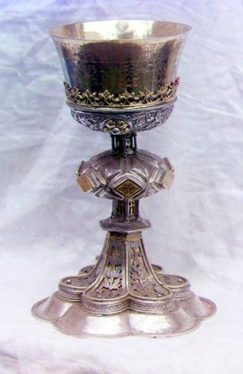 English: Chalice in the vestry of the Ipatevsk...