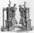 Chaplins' Patent Sea Water Distilling Apparatus with Steam Pump Attached.png