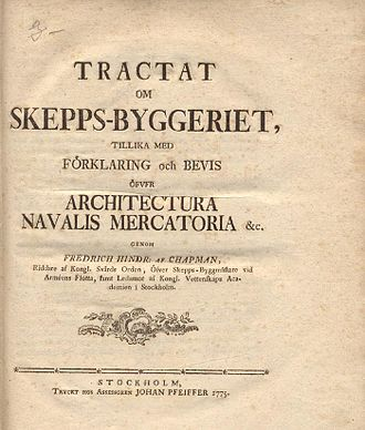 Fredrik Henrik af Chapman - Image: Chapman Tractat 1775 firstpage