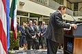 Charge d'Affaires Duncan Welcomes Secretary Pompeo to U.S. Embassy Mexico City (43341606072).jpg