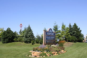 Charlevoix Municipal Airport - Airport sign