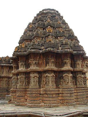 Chennakeshava Temple, Aralaguppe - Image: Chennakeshava Temple at Aralaguppe (stellate shrine)