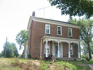 National Register of Historic Places listings in Huntington County, Indiana - Image: Chenoweth Coulter Farmhouse