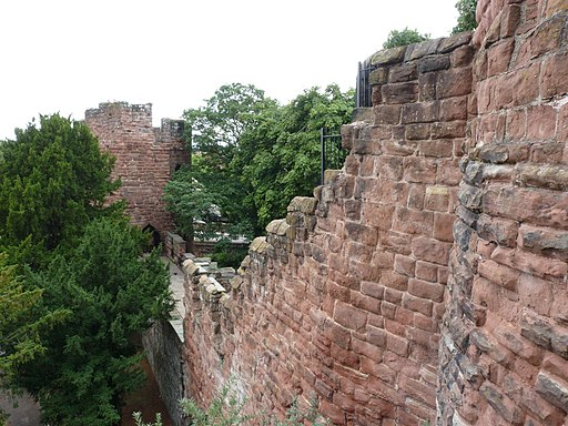 Chester City Walls - Spur Wall and Water Tower 01