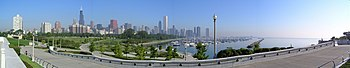 Chicago Downtown Panorama, By Marcin Klapczyns...