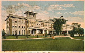 Chick Springs - The final Chick Springs Hotel, c. 1914.