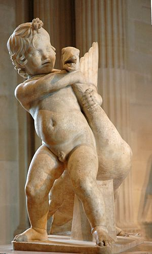 Boethus - Roman copy of Boethus' sculpture of a boy playing with a goose.