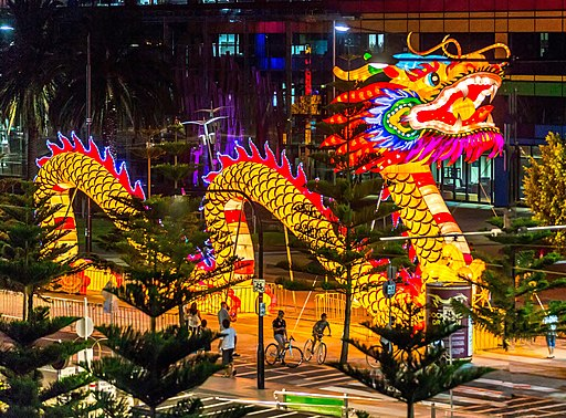 Chinese new year dragon 2014