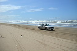Funkciante per la strando en Chirihama Nagisa Driveway en Hakui