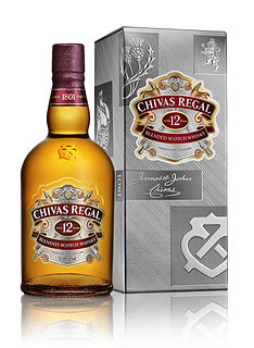 Chivas Regal Blended Scotch Whisky produced by Chivas Brothers