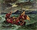 Christ sur la mer de Galilée (Delacroix) Walters Art Museum 37.186.jpg