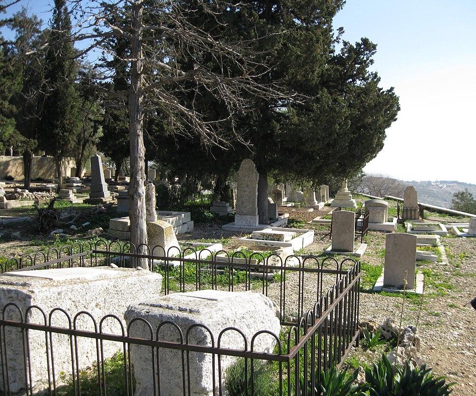 Christian cemetery on Mt. Zion, Bishop Gobat School